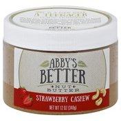 Abbys Better Nut Butter Nut Butter, Strawberry Cashew