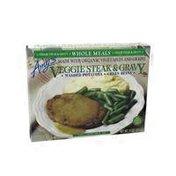 Amy's Kitchen Veggie Steak & Gravy, Mashed Potatoes & Green Beans