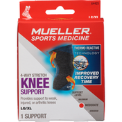Mueller Knee Support, 4-Way Stretch, Moderate