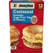Jimmy Dean Sausage, Egg & Cheese Croissant Sandwiches, Frozen