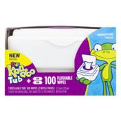 Kandoo Wipes, Flushable, Tub