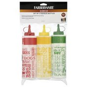 Farberware Squeeze Bottles, Barbecue, Set of 3