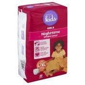 Basics For Kids Underwear, Nighttime, Girls, Large/Extra Large (60-125 lb)