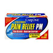 CareOne Pain Relief PM, Extra Strength, Geltabs