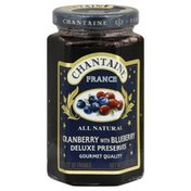 Chantaine Deluxe Preserves, Cranberry with Blueberry