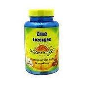 Nature's Life Orange Flavor Zinc Lozenges with Vitamin A & C