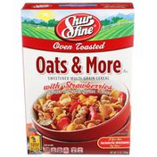 Shurfine Oats & More, Oven Toasted Sweetened Multi-grain Cereal With Strawberries
