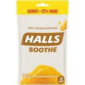 Halls Honey Cough Suppressant/Oral Anesthetic Menthol Drops