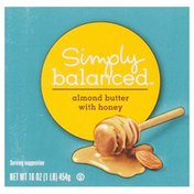 Simply Balanced Almond Butter, with Honey