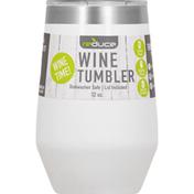 Reduce Wine Tumbler, Beveled, White, 12 Ounce