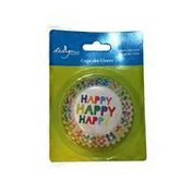 Design Design Happy Happy Foil Lined Standard Baking Cups