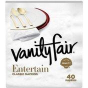 Vanity Fair Entertain Napkins, 40 3-Ply Paper Napkins