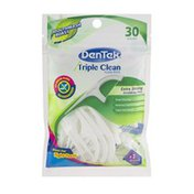 DenTek Triple Clean Floss Picks Mouthwash Blast - 30 CT