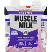 CytoSport Muscle Milk Yogurt Protein Shake, Strawberry Banana Flavor, Smoothie
