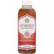 GTs Kombucha, Organic, Strawberry Serenity