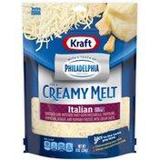 Kraft Shredded Philadelphia Creamy Melt Italian Five Cheese