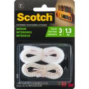 3M Scotch Indoor Fasteners White 3/4 in x 18 in, 1 set/pk