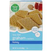 Food Club Honey Low Fat Graham Crackers