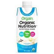 Orgain Organic Vegan Plant Based Nutritional Shake, Vanilla Bean - 16g Protein, Ready to Drink