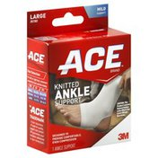 Ace Ankle Support, Knitted, Large, Mild Support