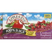 Apple & Eve 100% Juice, No Sugar Added, Cranberry Raspberry, 8 Pack