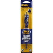 Irwin Tri-Flute Bit, Speed Tip, 3/4 Inches