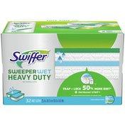 Swiffer Heavy Duty Wet Mopping Cloths Multi Surface Refills, Open Window