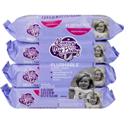 Always My Baby Toddler Wipes, Flushable, Melonberry