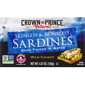 Crown Prince Sardines, Wild Caught, Skinless & Boneless