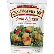 Chatham Village Garlic & Butter Flavored Large Cut Baked Croutons