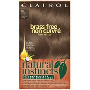 Clairol Natural Instincts, 6C Brass Free Light Brown, Semi-Permanent Hair Color, 1 Kit Female Hair Color