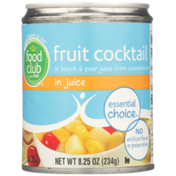 Food Club Fruit Cocktail In Peach & Pear Juice From Concentrate