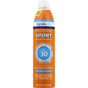 Equaline Sunscreen, Continuous Spray, Broad Spectrum SPF 30, Value Size