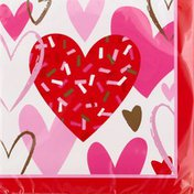 Creative Converting Table Napkins, Dots & Stripes, Candy Pink