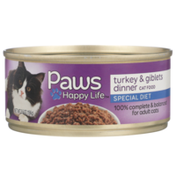 Paws Happy Life Turkey & Giblets Dinner Special Diet Cat Food