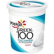 Yoplait Greek 100 Calories Plain Nonfat Yogurt