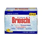 Brioschi Original On-the-Go Lemon Effervescent Antacid - 12 CT