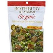 Rothbury Farms Croutons, Organic, Whole Grain, Seasoned