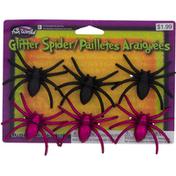 Fun World Glitter Spider, Black/Purple