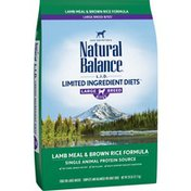 Natural Balance Dog Food, Lamb Meal & Brown Rice Formula, Large Breed Bites