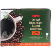 Hy-Vee Light Roast Decaf Breakfast Blend Decaffeinated Arabica Coffee Single Serve Cups