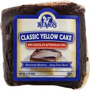 Ne Mos Yellow Cake, Classic, with Chocolate Buttercream Icing