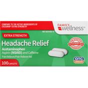 Family Wellness Headache Relief, Extra Strength, Caplets