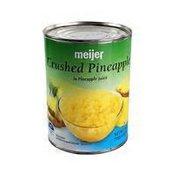 Meijer Crushed Pineapple In 100% Pineapple Juice