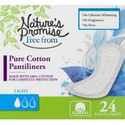 Nature's Promise Pantiliners, Pure Cotton, Light