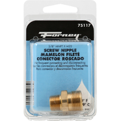 Forney Screw Nipple, 3/8 Inches