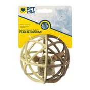 Pet Zone Ball Of Furry Fury Play-N-Squeak