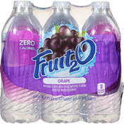 Fruit 2 O Purified Water Beverage, Grape, 6 Pack