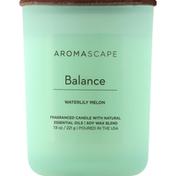 Aromascape Candle, Waterlily Melon, Balance