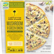 California Pizza Kitchen Mushroom and Green Onion Crispy Thin Crust Frozen Pizza